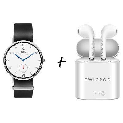 Orologio TWIG + auricolari TWIGPOD uomo/donna cuffie wireless