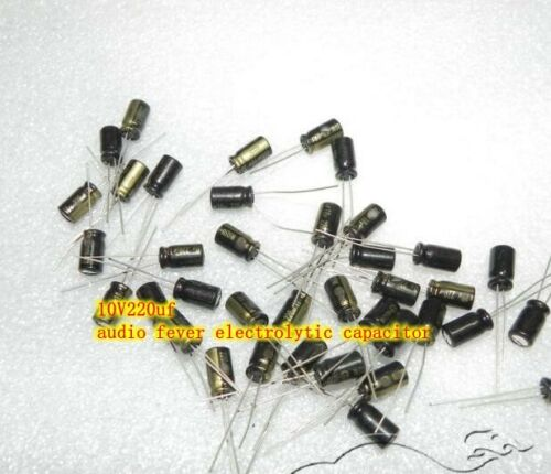 10V220uf electrolytic capacitor HiFi Audio fever Capacitors Electronic Parts