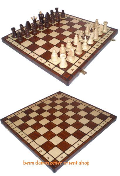 Schachbrett schach Schachfiguren chess pieces Holz Handarbeit NX44  cm