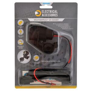 Oxford-12V-STD-Weatherproof-Accessory-Plug-Socket-and-1-2mtr-10amp-fused-loom