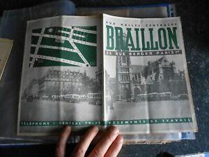 Ancien Catalogue Vêtement de Travail Casquette Blouse Chaussure Braillon Paris