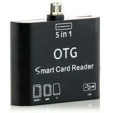 5 in1 OTG Adapter Micro-USB Card Reader SD HC TF for Samsung Galaxy note 8 TAB3