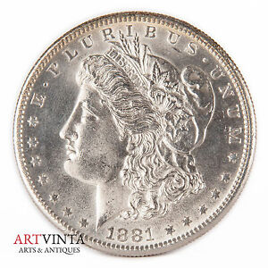 1881 S Morgan One Dollar Silver Silber Münze Usa Amerika Coin