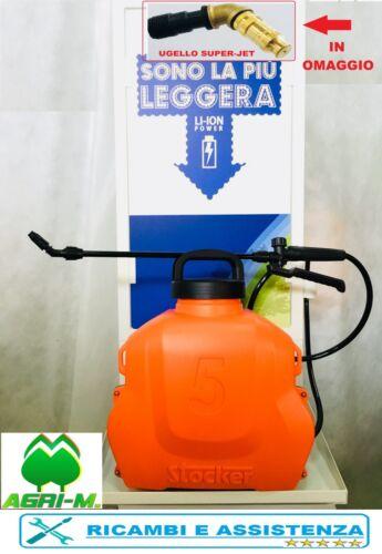 Pompa Irroratrice a spalla con batteria elettrica  al Litio STOCKER  Zaino 5 LT