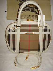 0ddfc53baac1 Image is loading 100-AUTHENTIC-NEW-BURBERRY-HAYMARKET-WHITE-SMALL-SATCHEL-