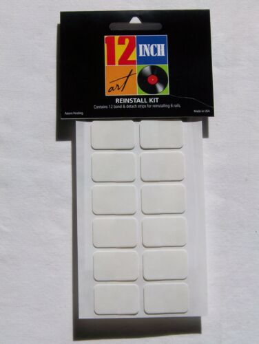 12 Inch Art Reinstall Kit Remounts 6 Rails for your Vinyl Record Album Display