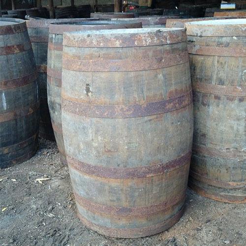 Recycled 200L Rustic Solid Oak Whiskey Barrels   Cask   Keg   Wooden Storage
