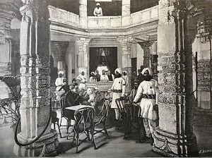 Exhibition-Universal-Paris-1889-Interior-of-Palace-Indian-Boulenaz-Print