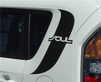 KIA Soul Graphics Decals Stripes Emblems Trim Kit EE-1598 Model 2010-2011 FOR