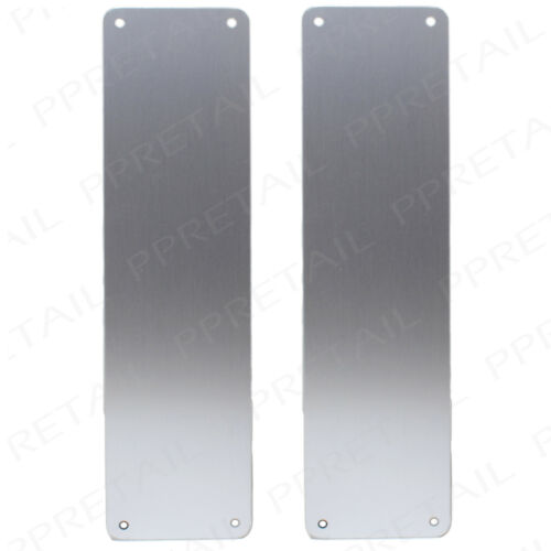 """Pair Of PUSH OPEN DOOR FINGER PLATES Curved Corners Radial Edge Cover Exit 12/"""""""