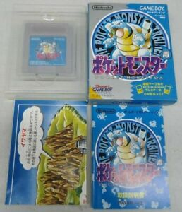 Used Pocket Monster Blue Version Game Boy Nintendo with Box & Map Manual Pokemon