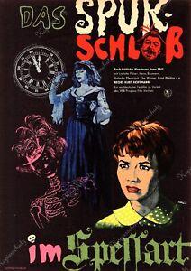Original DDR Progress Filmplakat in A4 Format 1961 Das Spukschloss in Spessart