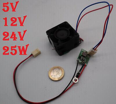 5V 12V 24V 3A 25W Temperatur Regler Lüfter steuerung Lüfterregelung PC CPU Fan