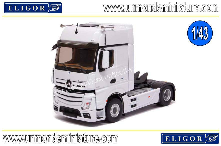 Tracteur Mercedes Actros 2 Gigaspace Blanc ELIGOR - EL 114850 - Echelle 1 43
