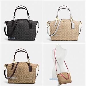 873a5429bf94 New Coach F58283 F36625 Small Kelsey Satchel In Signature Jacquard ...