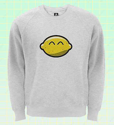 Dynamisch Lemon Smile Sweatshirt Happy Hipster Fruit Cute Jumper Indie Retro Sweat Top