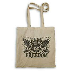 Feel The Route 66 USA Freedom Cars Driving Retro Logo Tote bag hh831r