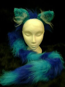 Turquoise Bunny Rabbit Bob Tail Clip On Tail One Size Luxury Fake Fur Tail