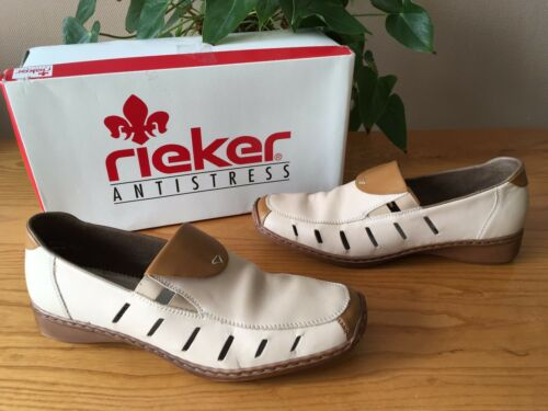 29542f64d Antistress Casual Uk Beige 40 Ladies Eu On Shoes Rieker Leather 7 Slip Doro  q50Z70