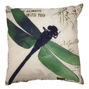 Am-Vintage-Green-Dragonfly-Square-Linen-Pillow-Sofa-Cushion-Cover-Case-Decor-Pr
