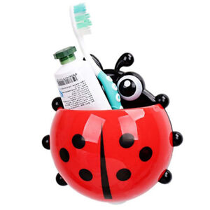 Ladybug-Toothbrush-Holder-Cartoon-Wall-Suction-Toothpaste-Rack-for-Kids-Bathroom