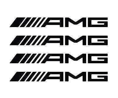 Mmhot Pinza de Freno de Vinilo de la Etiqueta engomada Pinza Logotipo Personalizado Rueda Wrap Strip Reflectantes y calcoman/ías Sticker Color Name : AMG Black