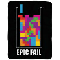 Tetris Epic Fail Fleece Brand Sealed Think Geek Exclusive Huge 45 X 60 Huge