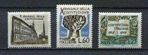 FRANCOBOLLI REPUBBLICA ITALIANA NEW 1958 COSTITUZIONE ITALIANA