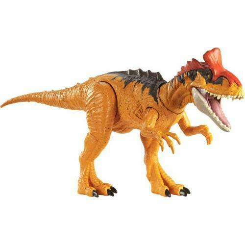 Mattel Jurassic World Brüll-Attacke Cryolophosaurus Spielfigur Toys//Spie NEU