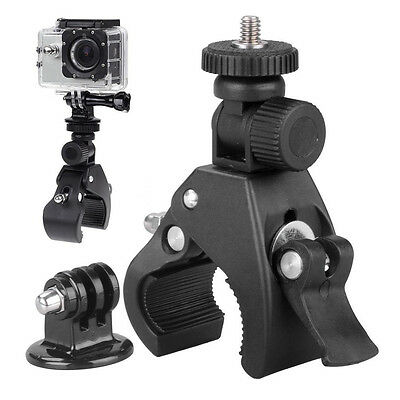 "Motorcycle Bike Handlebar Clamp Mount for Camera w/ 1/4"" Thread GoPro Hero3 3+ 4"