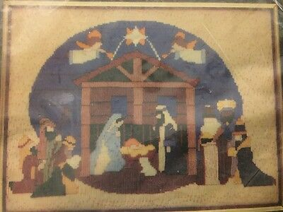 1981 NATIVITY Longstitch Kit, NIP, 12 x 16, Kelly's Craft, 1208, Christmas