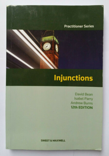 Injunctions by David Bean, Andrew Burns, Isabel Parry (Paperback, 2015)