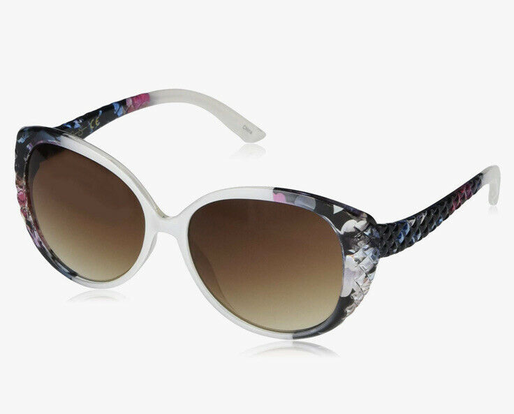 ❤️Jessica Simpson Women's J5386 Over-Sized Cat-Eye Sunglasses with Quilted