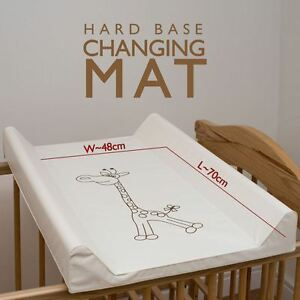 HARD BASE CHANGING MAT FOR COT TOP / CHANGER STATION 50x70cm ...