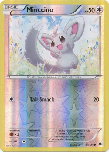 Pokemon Minccino 87124 XY Fates Collide REVERSE HOLO MINT