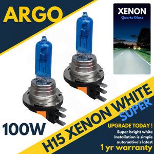 2-X-H15-6000k-Drl-High-Beam-Bulb-Audi-Golf-Mk7-White-Xenon-Canbus-Error-Free