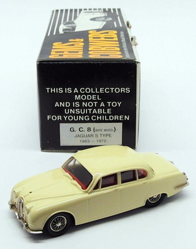 Edelsteine und spinnweben maßstab 1  43 model auto gc8 - 1963-70 jaguar s type - gelb