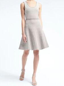 NWT-Banana-Republic-New-138-00-Women-Stripe-Knit-Fit-and-Flare-Dress-Size-XL
