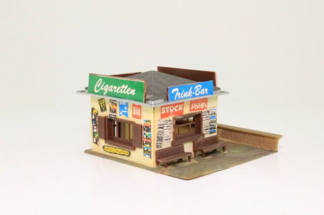 Faller 130212 Spur N Kiosk Trinkhalle Büdchen fertig aufgebaut