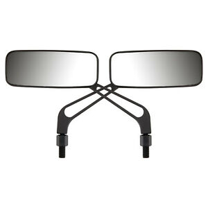 Ryde Black /& Chrome Round Motorcycle Mirrors