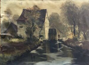JOSEPH-ROLF-KNOBLOCH-1891-1964-old-watermill-landscape-with-person-56-x-75-5