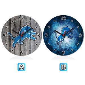20ca7b44 Details about Detroit Lions Sport Wooden Wall Clock Modern Home Office Decor
