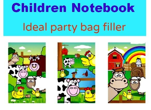 9 kids mini ferme le bloc-notes notebook Animals Toy Party Bag Filler Goody GIRL BOY