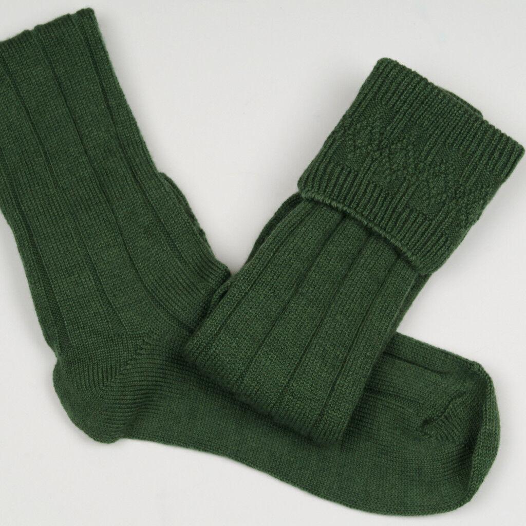 Lovat Green Wool Mix Kilt Piper Cub Scouts Socks Child Size 9-12