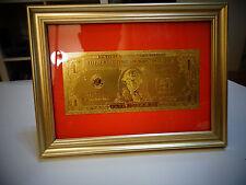 24 KARAT 99.9% GOLD USA *2009 *$1 DOLLAR BILL -FRAMED- LIMITED PRODUCTION, RARE