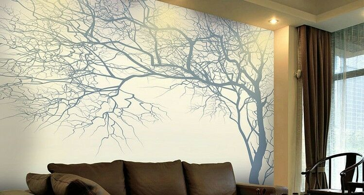 3D Silhouette Branches Wall Paper Wall Print Decal Wall Wall Wall Deco Indoor wall Mural 851dc7