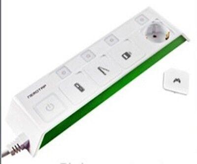 Design Green Multiple power strip 220 V 4 outlet 4 individual switch nemotap