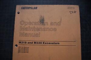 cat caterpillar m318 m320 excavator operation maintenance manual rh ebay com Cat M322 cat m318 service manual