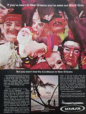 5/1969 PUB VIASA VENEZUELA CARACAS CARIBBEAN MARDI GRAS / PIEDMONT AIRLINES AD