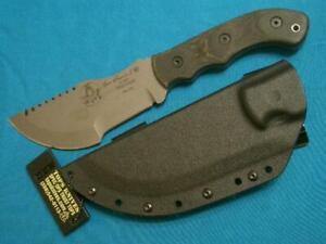 CUSTOM TOPS USA TOM BROWN TRACKER X-1927CAMP SURVIVAL KNIFE HUNTING BOWIE SHEATH